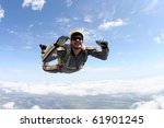 skydiving photo | Shutterstock . vector #61901245