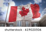 Canada Flag 3d Rendering On...