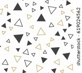 random triangles pattern.... | Shutterstock .eps vector #619024562
