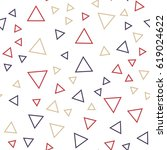 random triangles pattern.... | Shutterstock .eps vector #619024622