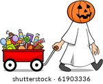 a trick or treating character...   Shutterstock .eps vector #61903336