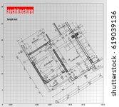 architecture grid blueprint...   Shutterstock .eps vector #619039136