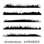 set of grunge edges borders...   Shutterstock .eps vector #619048325