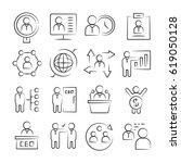 hand drawn business management... | Shutterstock .eps vector #619050128