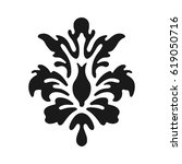 fleur de lis symbols  black... | Shutterstock .eps vector #619050716