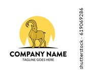 unique ibex logo template vector | Shutterstock .eps vector #619069286