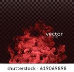 vector illustration of smoke.... | Shutterstock .eps vector #619069898