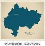 stockport borough greater... | Shutterstock .eps vector #619076492