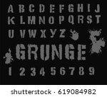 military  grunge font   retro... | Shutterstock .eps vector #619084982