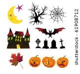 halloween banners set. | Shutterstock .eps vector #61908712