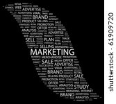marketing. word collage on... | Shutterstock .eps vector #61909720