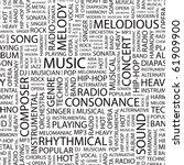 music. seamless vector pattern...   Shutterstock .eps vector #61909900