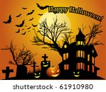 halloween background with... | Shutterstock .eps vector #61910980