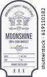 vintage moonshine label design... | Shutterstock .eps vector #619110182