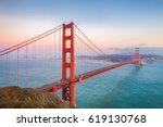 classic panoramic view of... | Shutterstock . vector #619130768