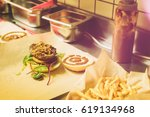 making a authentic dry aged... | Shutterstock . vector #619134968