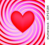heart on the striped background | Shutterstock .eps vector #61914184