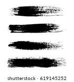 grunge brush strokes.hand... | Shutterstock .eps vector #619145252
