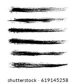 grunge brush strokes.hand... | Shutterstock .eps vector #619145258