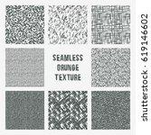 set of grange seamless patterns.... | Shutterstock .eps vector #619146602