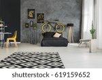modernly designed apartment... | Shutterstock . vector #619159652