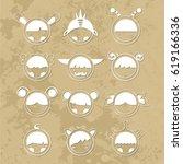 cartoon cute monsters. | Shutterstock . vector #619166336