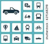 transportation icons set....   Shutterstock .eps vector #619168298