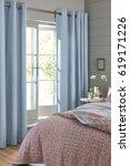 modern bedroom interior with... | Shutterstock . vector #619171226