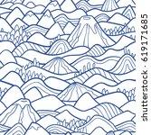 landscape pattern. vector... | Shutterstock .eps vector #619171685