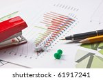 pen and paper work with the... | Shutterstock . vector #61917241