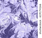 ebru abstract color paint on...   Shutterstock . vector #619174166