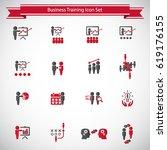 business training icon set | Shutterstock .eps vector #619176155