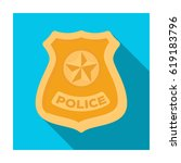 police badge icon in flat style ... | Shutterstock . vector #619183796