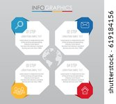 info graphic template for... | Shutterstock .eps vector #619184156