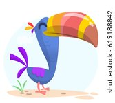 Toucan Bird Cartoon. Vector...