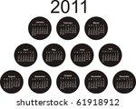 2011 calander | Shutterstock .eps vector #61918912