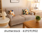 modern interior of living room | Shutterstock . vector #619191902