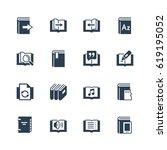 ereader interface related... | Shutterstock .eps vector #619195052