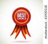 vector best choice red label... | Shutterstock .eps vector #61920118