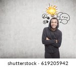 portrait of a smiling african... | Shutterstock . vector #619205942