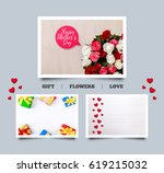 gift box  hearts love... | Shutterstock . vector #619215032