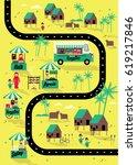 ramadan bazaar template vector... | Shutterstock .eps vector #619217846