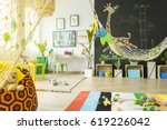 Colorful Tropical Themed Room...