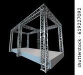 steel truss girder rooftop... | Shutterstock . vector #619227092