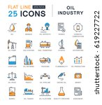 set  line icons in flat design  ... | Shutterstock . vector #619227722