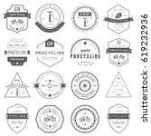 set of badges and logos cycling.... | Shutterstock . vector #619232936