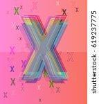x alphabet pattern idea | Shutterstock .eps vector #619237775