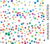 sparse watercolor confetti on... | Shutterstock . vector #619237856