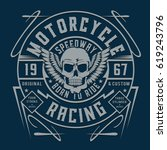 motorcycle racing typography ...   Shutterstock .eps vector #619243796