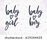 Baby Girl  Baby Boy. Vector...